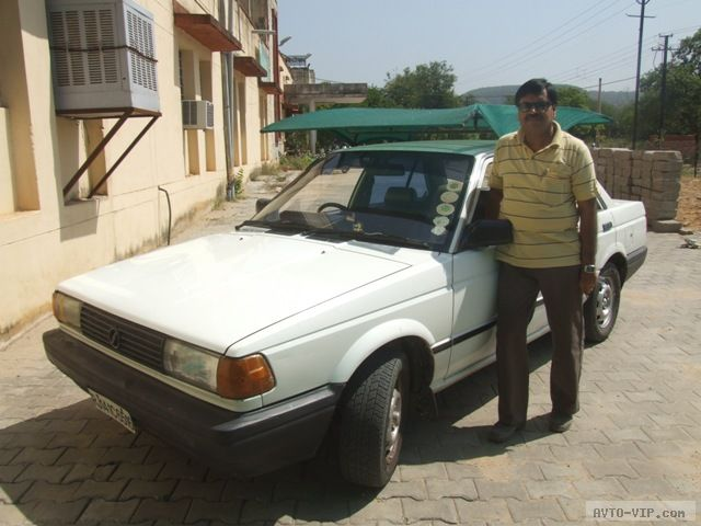 Prof. Vijay with Nissan Sunny 1988 model