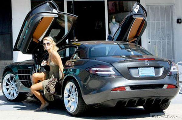 Hilton's Pink Mercedes-Benz SLR McLaren