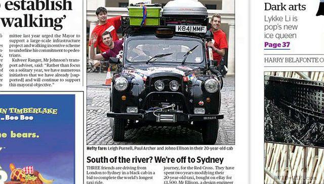 Пресса о такси в Австралии