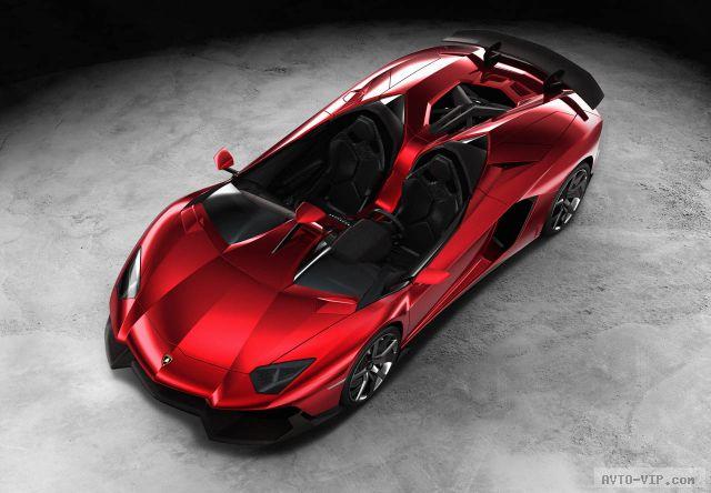 Lamborghini Aventador J, которому снесло крышу