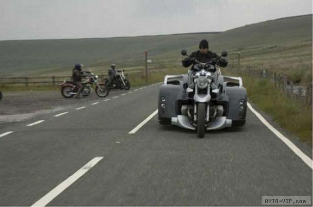 Необычный мотоцикл для инвалидов