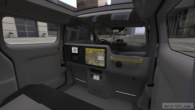 Nissan NV200 Taxi interior