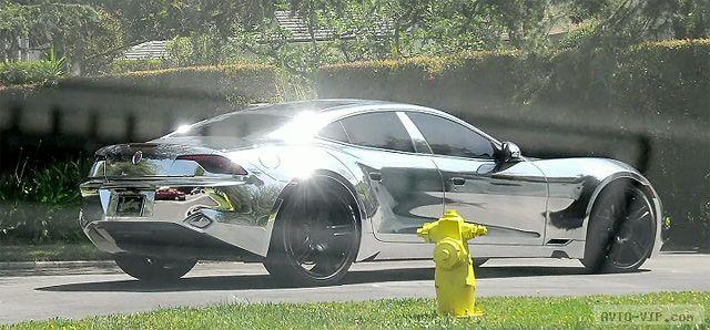 Бибер отхромировал машину