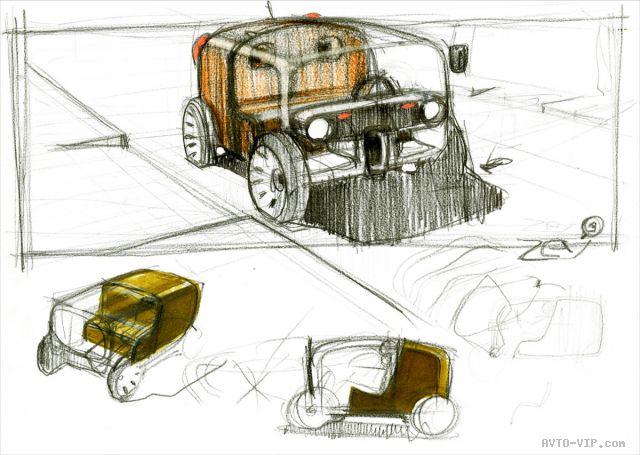 Renault Twizy Concept - Design Sketch