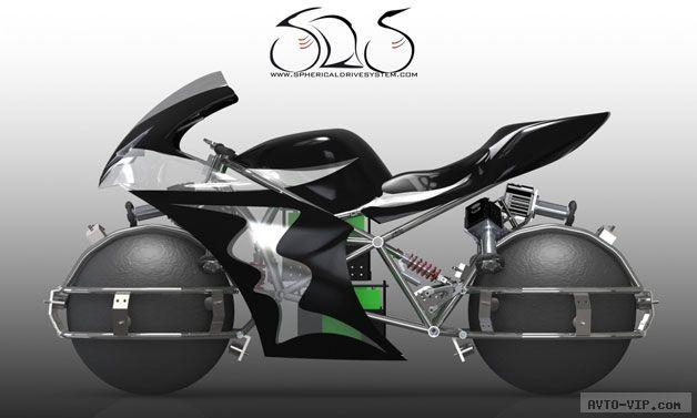 Концепт мотоцикла со сферами
