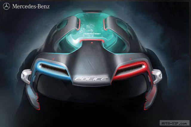 Mercedes-Benz G-Force 2025 год - полицейские автомобили будущего