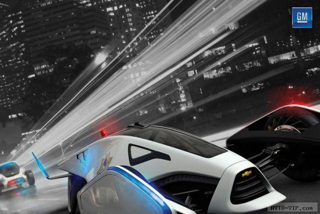 GM Pursue Volt Squad 2025 год - полицейские автомобили будущего