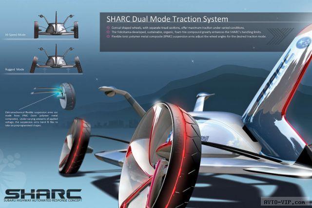 Subaru SHARC 2025 год - полицейские автомобили будущего