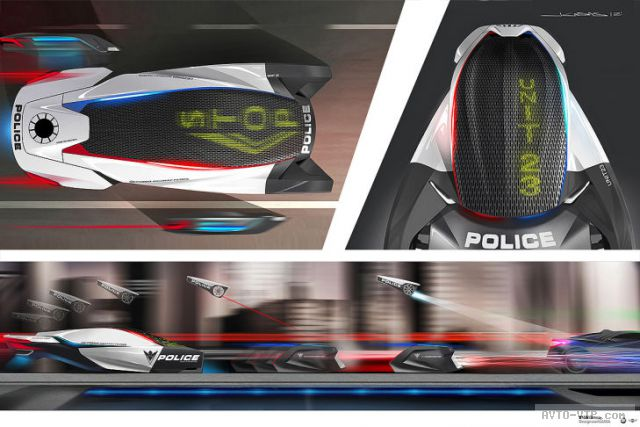 2025 год - полицейские автомобили будущего BMW Human-Drone Pursuit Vehicle