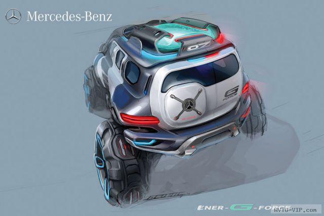 2025 год - полицейские автомобили будущего Mercedes-Benz Ener-G Force