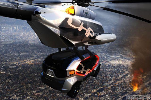 Honda 2025 год - полицейские автомобили будущего CHP Drone Squad