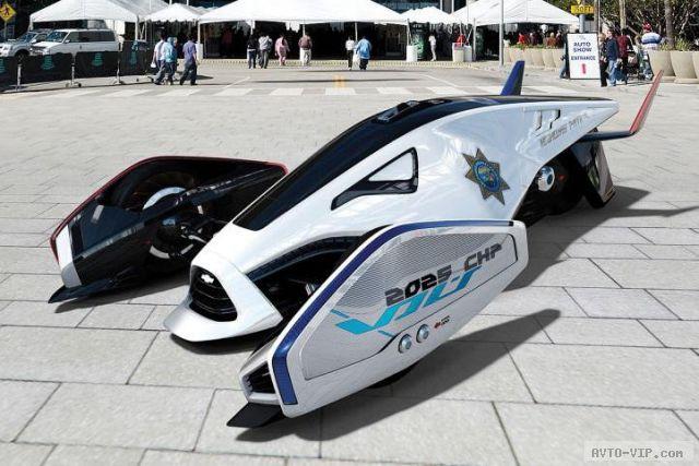 2025 год - полицейские автомобили будущего GM Volt Squad