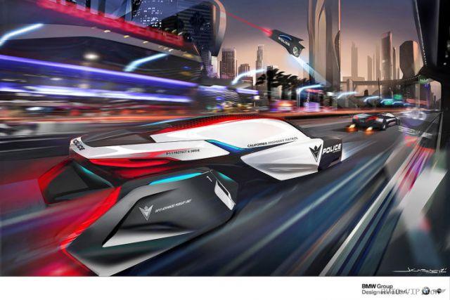 BMW человека преследования автомобиля Drone