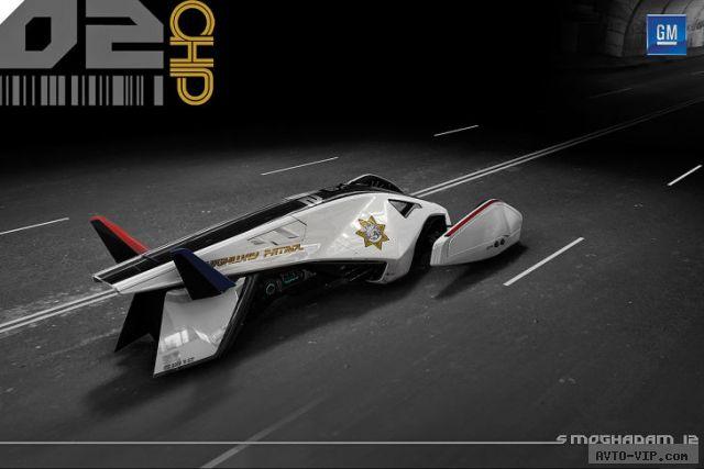 2025 год - полицейские автомобили будущего GM Pursue Volt Squad