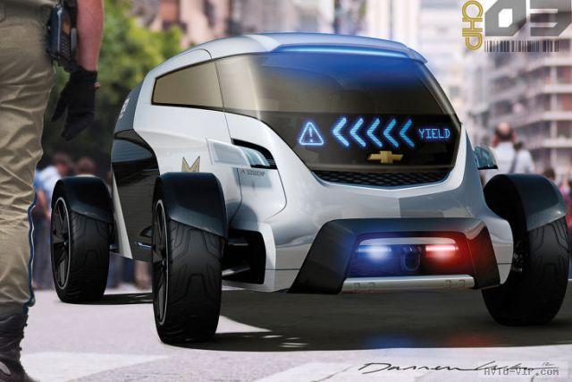 2025 год - полицейские автомобили будущего GM Engage Volt Squad
