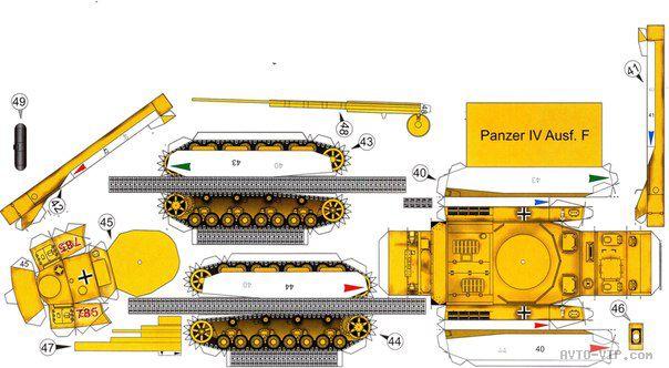 бумажная модель танка Panzer IV