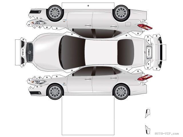 Модели машин из бумаги своими руками схемы