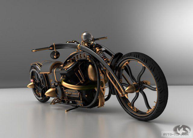 Концепт мотоцикла в стиле стимпанк (6 фото)
