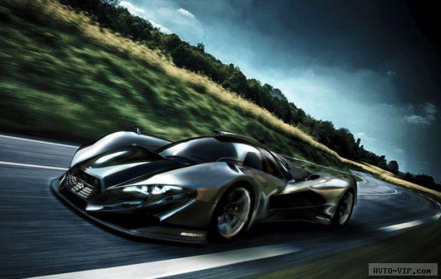 Mercedes-Benz SL GTR concept supercar