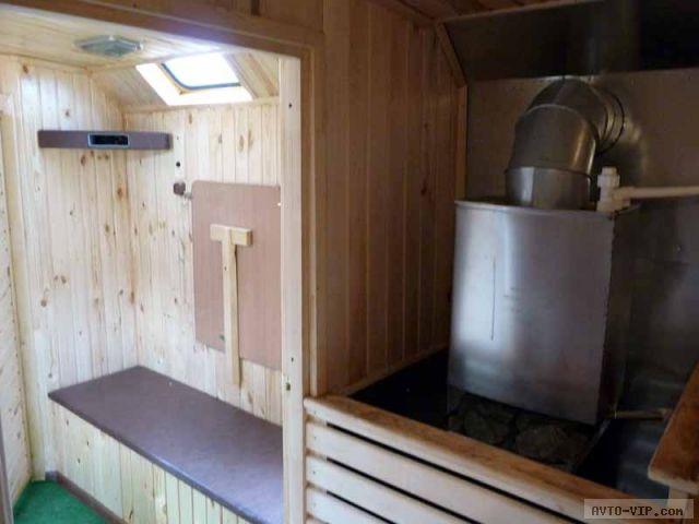 баня на колесах печка