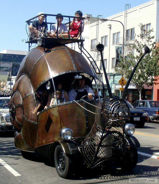 странные авто Snail Car
