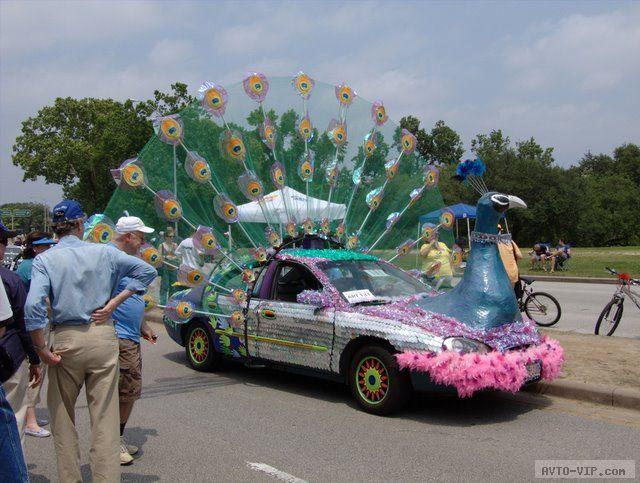 странные авто Peacock Car