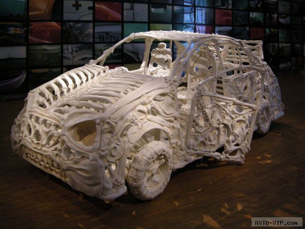 Jitish Kallat's bone Car
