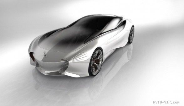 2030 Mercedes Benz Aria Concept Front Angle