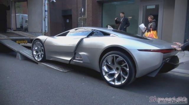 Новый спорткар C-X75 от Jaguar был замечен в Лондоне