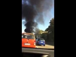 Пожар Ferrari FF