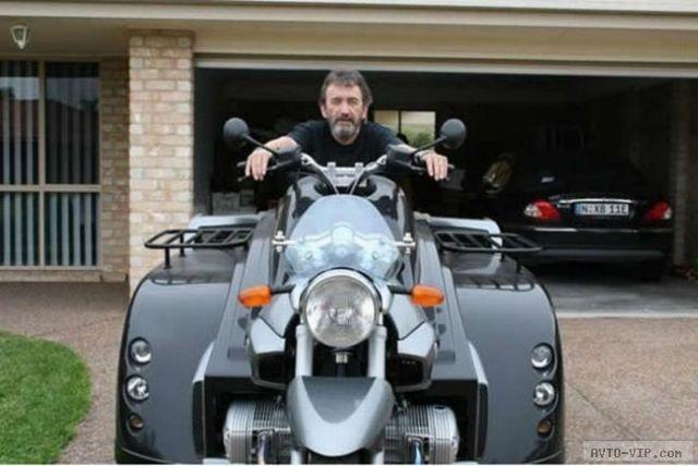 Необычный мотоцикл для инвалидов (видео)