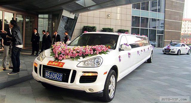Китайский свадебный стретч-лимузин Порше