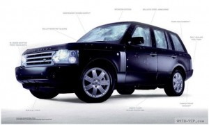 Бронированный Range Rover Vogue Security Vehicle