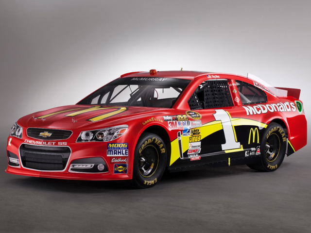 Новый гоночный Chevrolet SS NASCAR Sprint Cup car