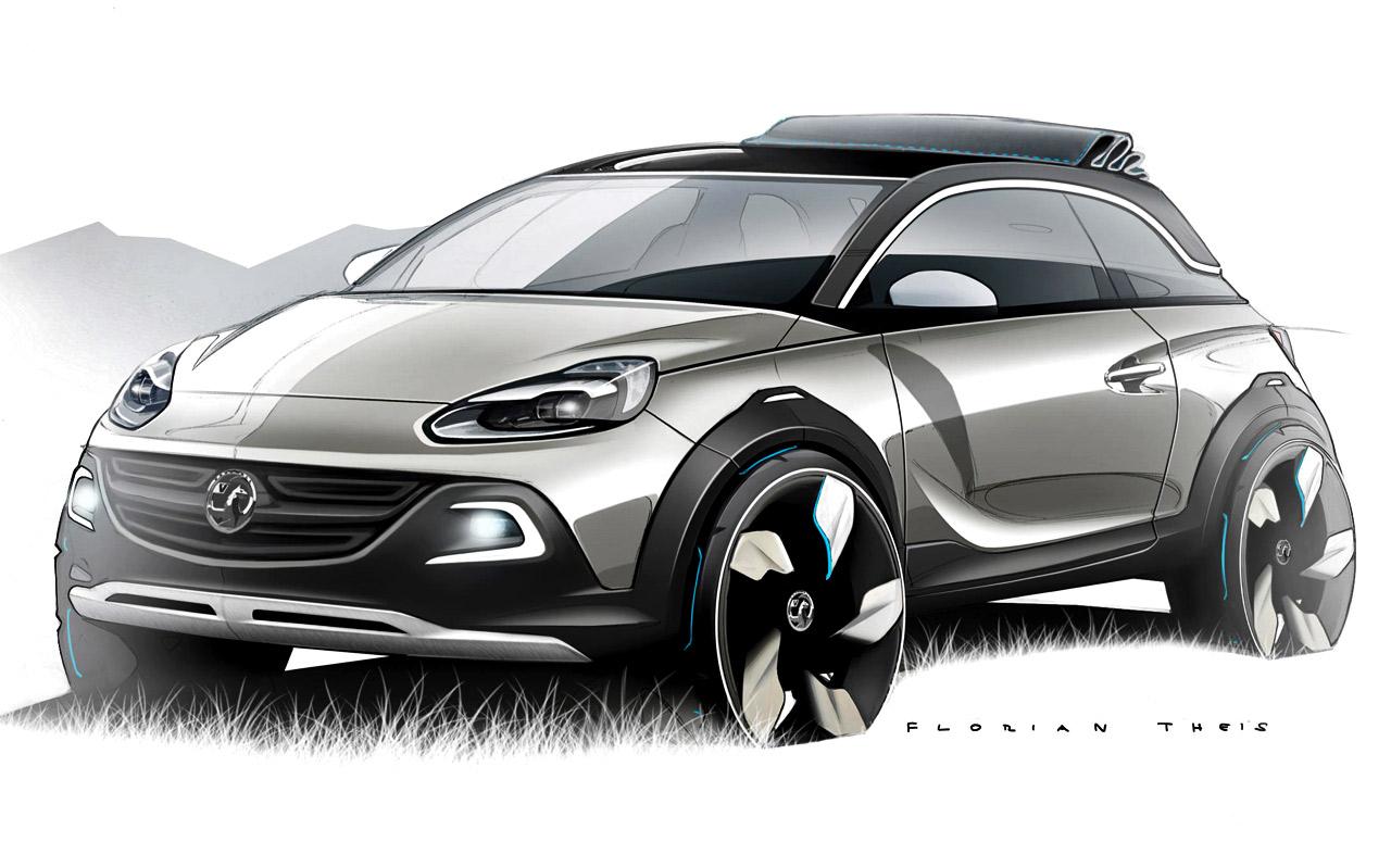 Концептуальный кроссовер Opel Adam Rocks