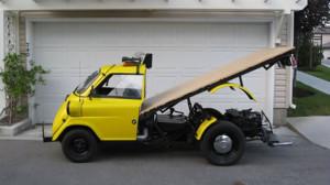Простой, но стильный эвакуатор Isetta