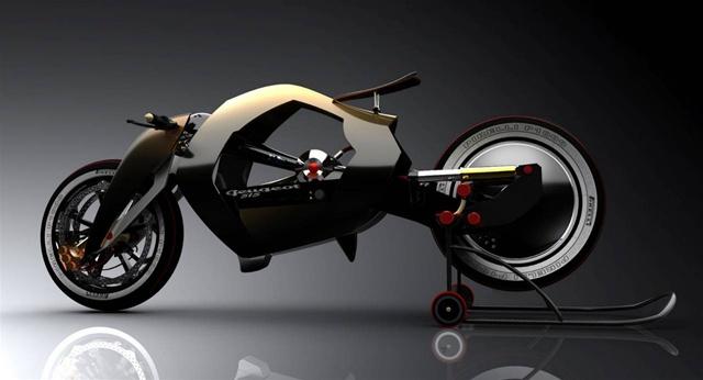 Экономичный паровой мотоцикл из прошлого