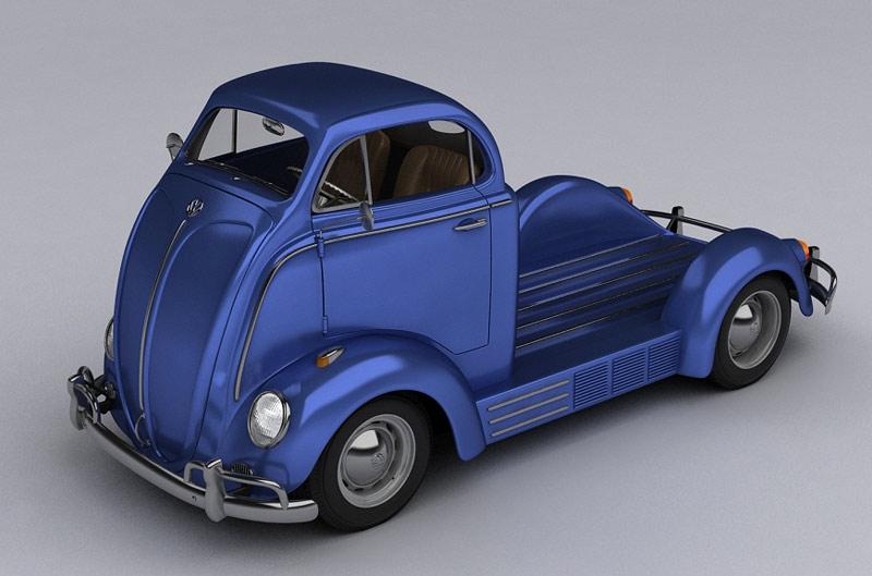 Стильный пикап Volkswagen Fusca Concept