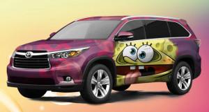 Toyota Highlander 2014 в стиле Губка Боб