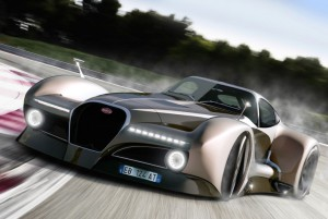 Концепт-кар в стиле стимпанк Bugatti 12.4 Atlantique