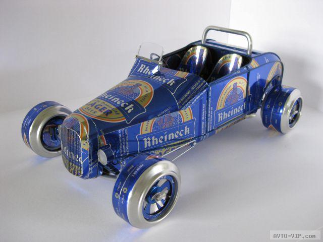Модели автомобилей из пивных банок