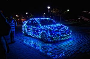 Украшаем автомобиль к Новому году