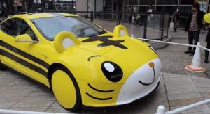 Автомобиль Тесла в виде тигренка из аниме Shimajiro