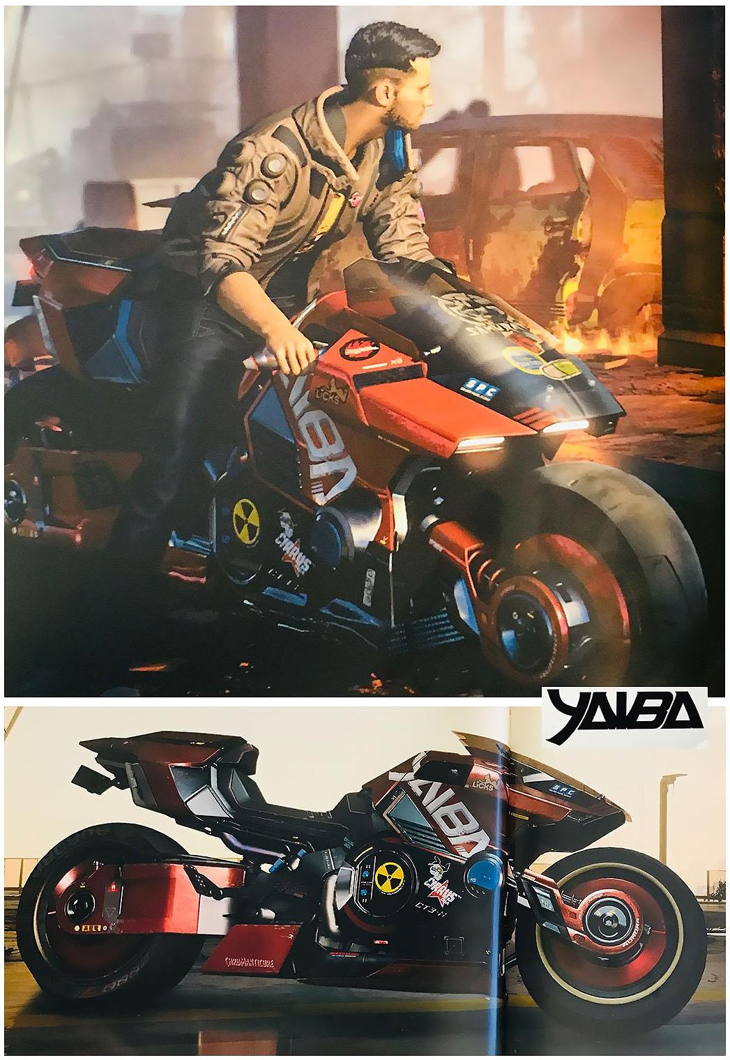 мотоцикл cyberpunk2077 yaiba
